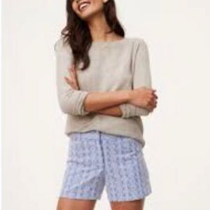 Ann Taylor Loft size 14 shorts embroidered boho